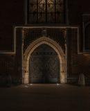 construção velha da noite Foto de Stock Royalty Free