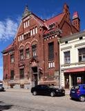 Construção velha de Suomen Pankki em Vyborg, Rússia Imagem de Stock