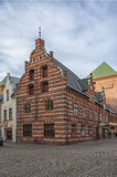 Construção velha do centro da cidade de Malmo Imagens de Stock Royalty Free