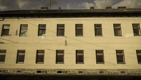 Construção velha em Linz, Áustria imagens de stock