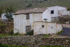 Construção velha na Espanha de Las Palmas das Ilhas Canárias de Fuerteventura Fotos de Stock Royalty Free