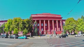 A construção vermelha da universidade de Kiev filme
