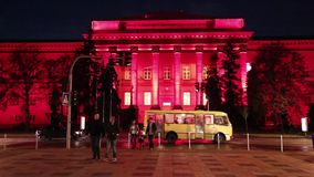 Construção vermelha da universidade nacional de Kiev, Ucrânia vídeos de arquivo