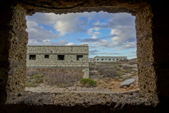 Construções abandonadas de uma base militar Fotos de Stock Royalty Free