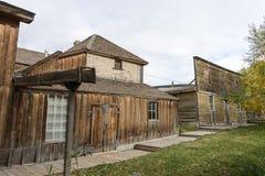 Construções abandonadas vintage em Virginia City montana imagem de stock