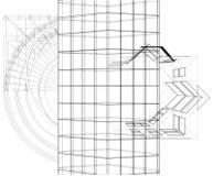 Construções abstratas da linha vetor Fotos de Stock Royalty Free