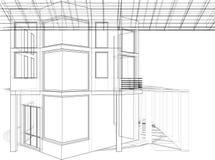 Construções abstratas da linha vetor Fotografia de Stock Royalty Free