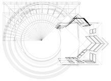 Construções abstratas da linha vetor Imagens de Stock Royalty Free