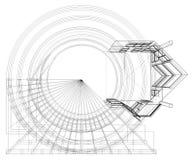 Construções abstratas da linha vetor Imagens de Stock