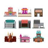 Construções ajustadas isoladas no fundo branco Fotos de Stock Royalty Free