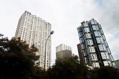 Construções altas da cidade Fotos de Stock Royalty Free