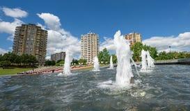 Construções altas da elevação, Kaunas, Lituânia Imagem de Stock Royalty Free