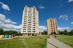Construções altas da elevação, Kaunas, Lituânia Fotos de Stock