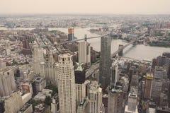Construções altas em New York City Fotografia de Stock Royalty Free