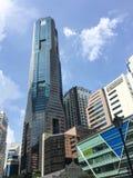 Construções altas em Singapura imagens de stock royalty free