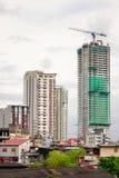 Construções altas situadas em Manila, Filipinas Foto de Stock Royalty Free