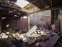 Construções arruinadas durante o terremoto em Equador Foto de Stock Royalty Free