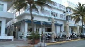 Construções Art Deco 3 da movimentação do oceano de Miami de 3 vídeos de arquivo