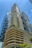 Construções azuis e douradas imagens de stock royalty free