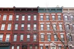 Construções coloridas da cidade Imagem de Stock Royalty Free