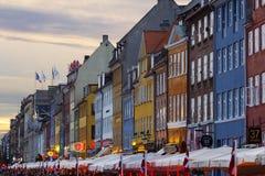 Construções coloridas de Copenhaga imagens de stock royalty free
