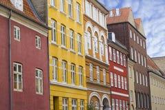 Construções coloridas em Copenhaga imagens de stock royalty free