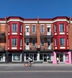 Construções coloridas em Montreal Fotos de Stock