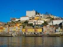 Construções coloridas em Ribeira, Porto Portugal Imagens de Stock Royalty Free