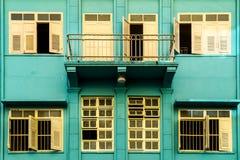 Construções coloridas velhas em Hatyai Imagem de Stock Royalty Free