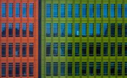 Construções comerciais coloridas Foto de Stock Royalty Free