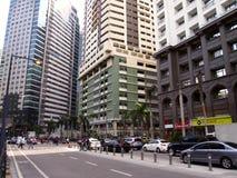 Construções comerciais e residenciais no complexo de Ortigas Imagens de Stock