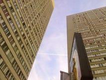 Construções da arquitetura da cidade imagens de stock