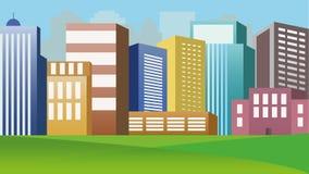Construções da cidade ilustração royalty free