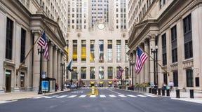 Construções da cidade de Chicago e vida urbana - Chicago, Illinois Foto de Stock Royalty Free