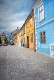 Construções da cidade de Sibiu foto de stock