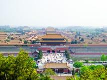 Construções da Cidade Proibida do Pequim Fotos de Stock Royalty Free