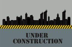 Construções da cidade Sob a construção Vetor Imagem de Stock Royalty Free