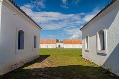 Construções da fortaleza do St Joseph Sao Jose em Macapa, Braz foto de stock