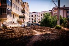 Construções da reabilitação urbana Fotos de Stock