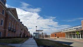 Construções da universidade foto de stock