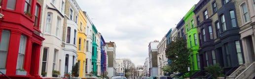 Construções de Colorfull, Notting Hill, Londres Foto de Stock Royalty Free