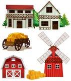 Construções de exploração agrícola Fotos de Stock