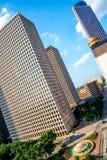 Construções de Highrise em Houston do centro Foto de Stock
