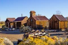Construções de madeira retros do vintage no deserto alto Foto de Stock Royalty Free
