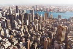 Construções de Manhattan aéreas Imagens de Stock Royalty Free