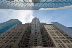 Construções de Manhattan, New York City, EUA Fotografia de Stock Royalty Free