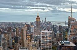 Construções de Manhattan, New York City, EUA Fotografia de Stock