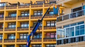 Construções de Nacellewith ao redor Cidade do centro fotos de stock royalty free