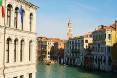 Construções de Olld em Veneza, Itália, Europa Canal grande Imagens de Stock Royalty Free