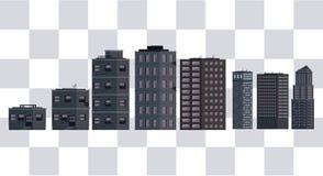 Construções de Pixelated ilustração do vetor